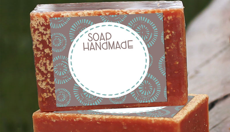 photo relating to Printable Soap Labels named Cost-free Selfmade Cleaning soap Label Printables -