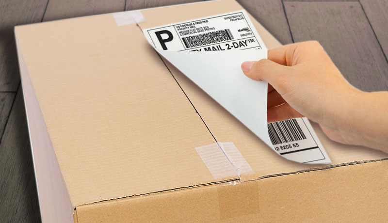 Where to Put Shipping Label on a Package